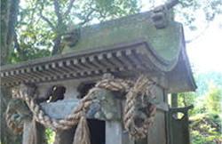 町有形文化財指定大神宮の石造神殿