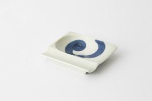 47 重宝皿 渦紋 青1-item