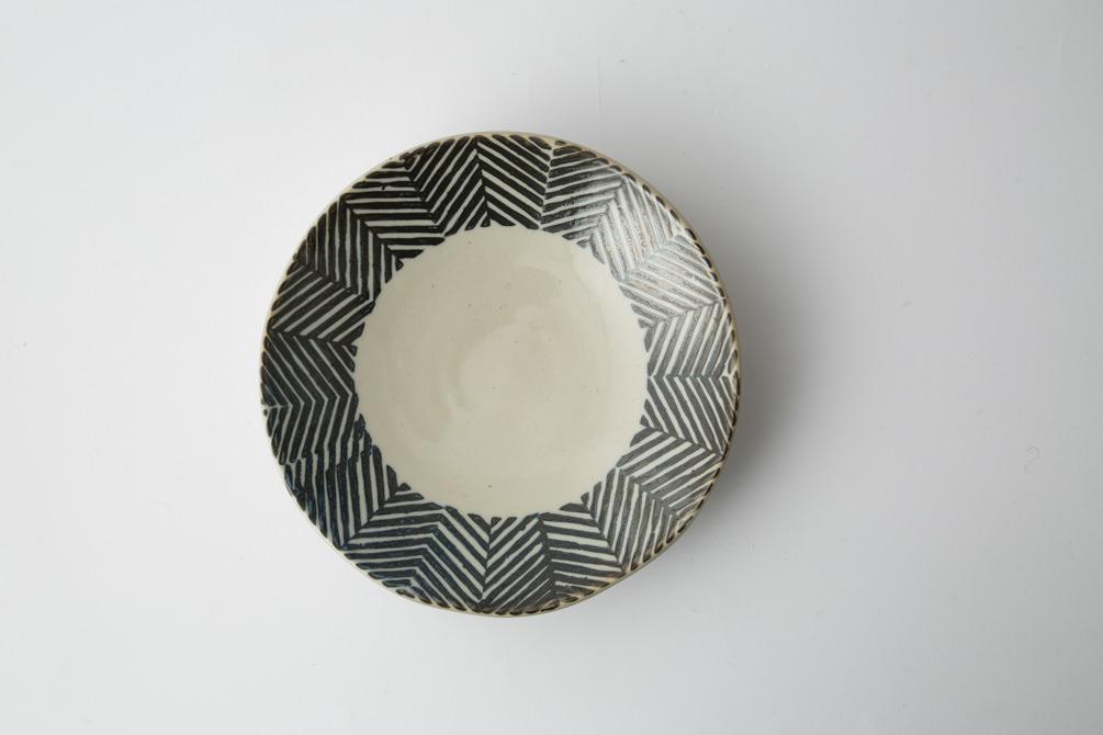 170 Pヘンリボーン 六寸丸皿 ブラウン2-item