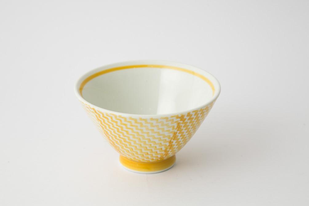 143 シャークスキン 茶碗 イエロー2-item