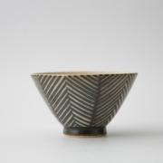173 Pヘリンボーン 茶碗 ブラウン1-item