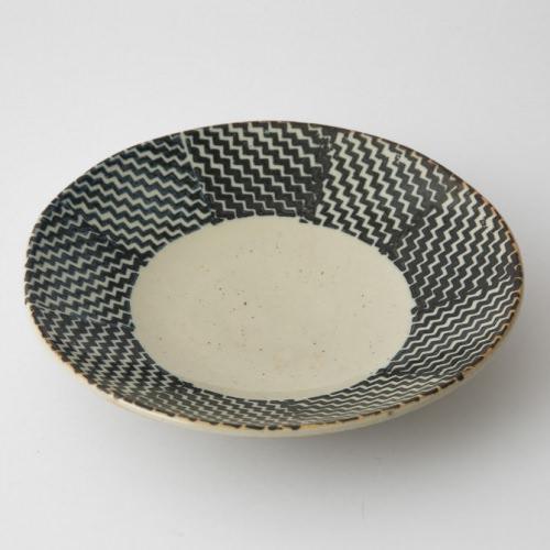 183 Pシャークスキン 六寸丸皿 ブラウン1-item