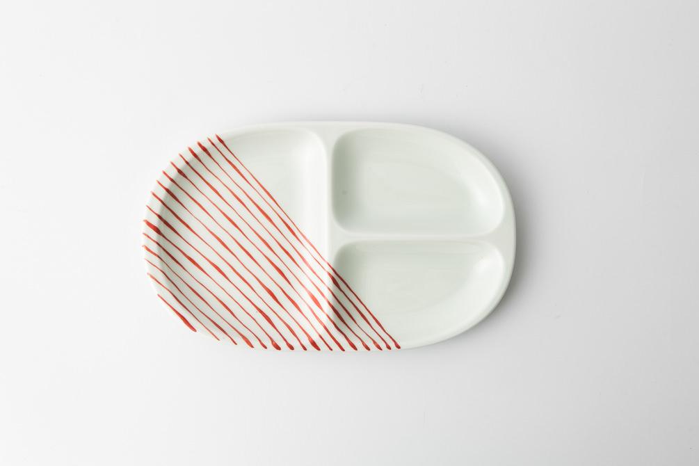 67 ミディプレート つれづれ十草 赤2-item