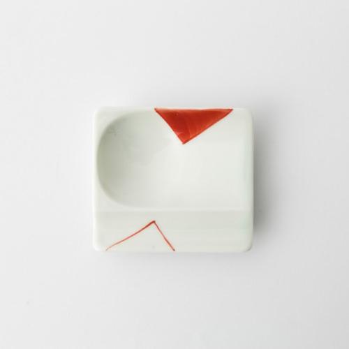 46 重宝皿 対角濃 赤2-item
