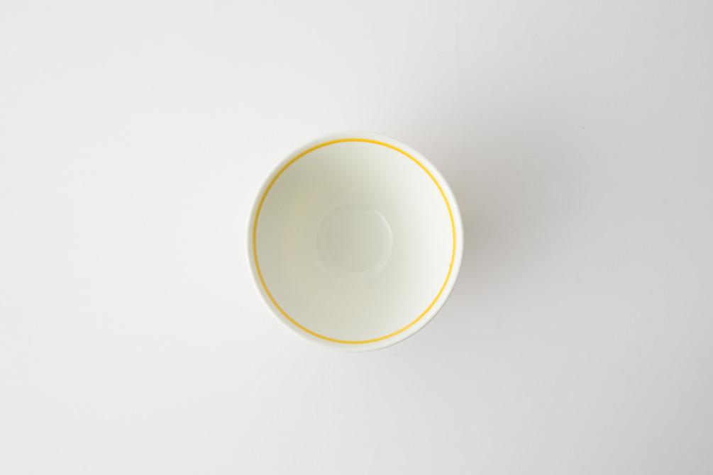 131 ヘリンボーン 茶碗 イエロー3-item
