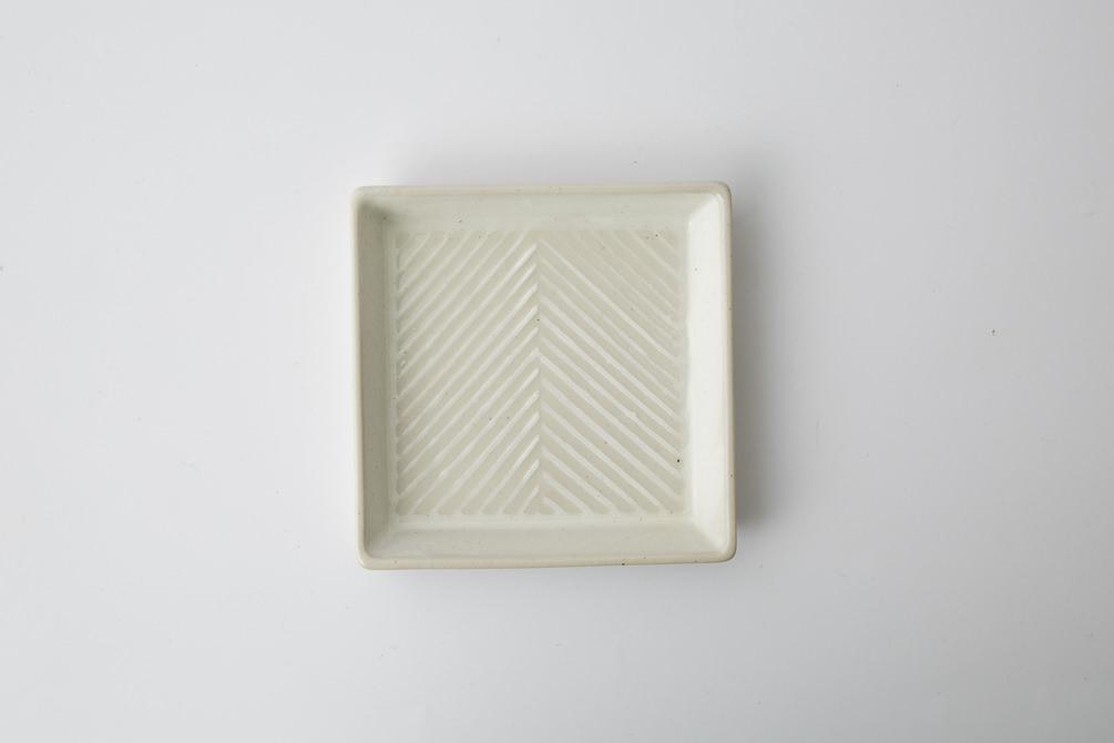176 Pヘリンボーン 正角皿2-item