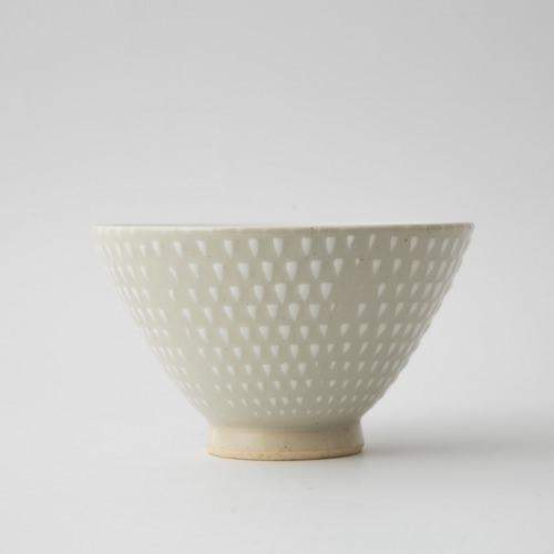 158 P鹿の子 茶碗大 ホワイト1-item