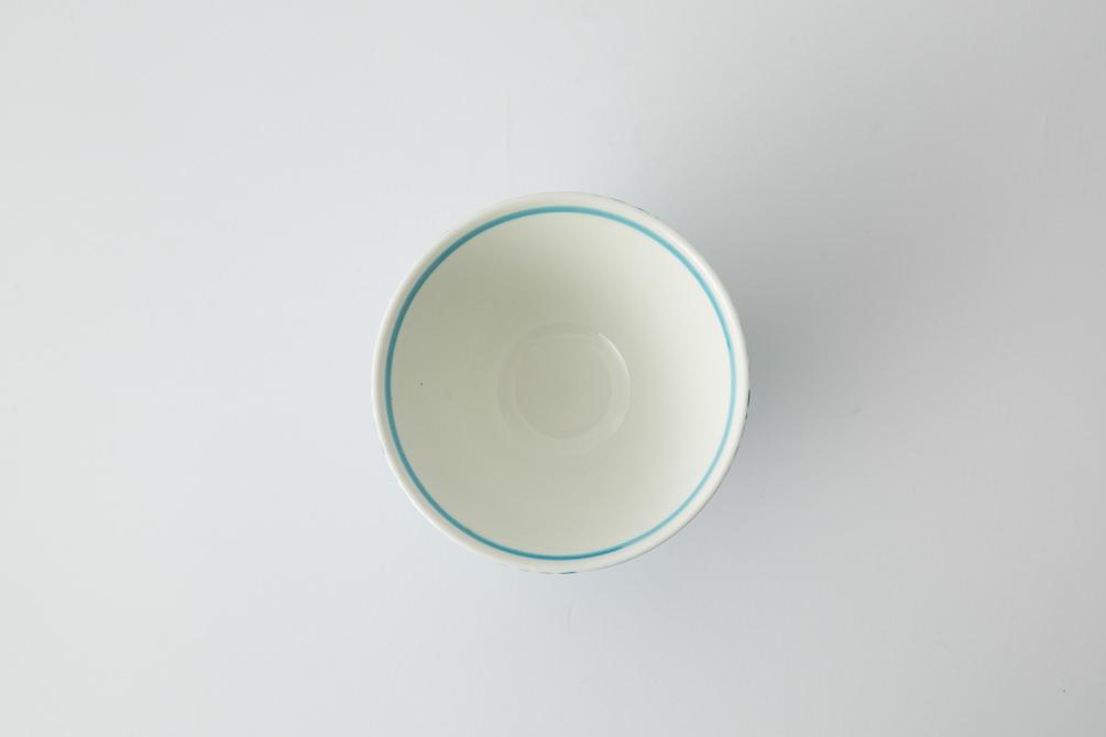 118 鹿の子 茶碗 アクアブルー3-item