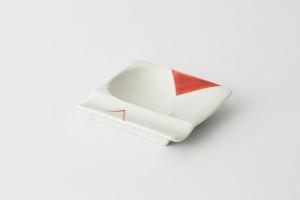 46 重宝皿 対角濃 赤1-item