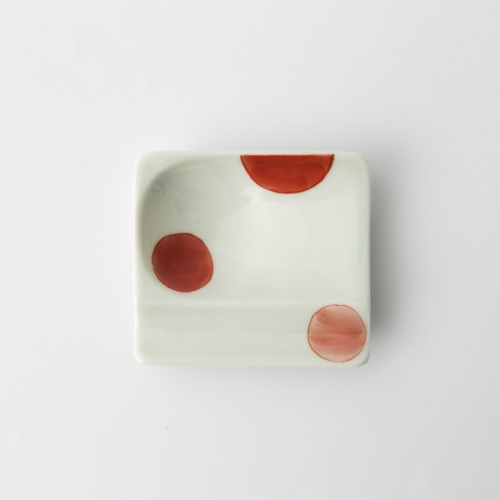 35 重宝皿 二色丸紋 赤2-item