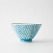 130 ヘリンボーン 茶碗 アクアブルー1-item