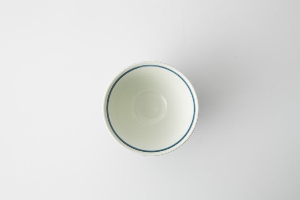 129 ヘリンボーン 茶碗 ブルー3-item