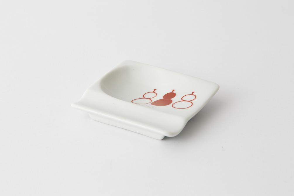 53 重宝皿 ひょうたん 赤1-item