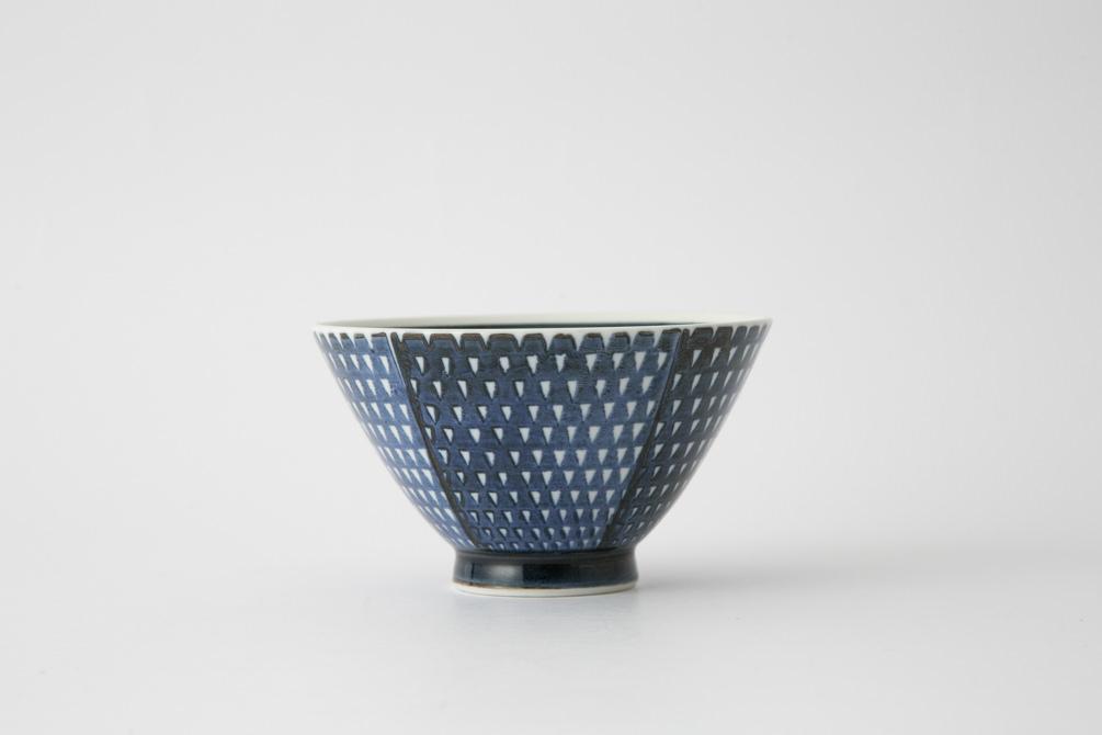 117 鹿の子 茶碗 ブルー1-item