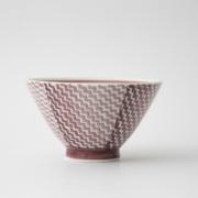 144 シャークスキン 茶碗 マロン1-item