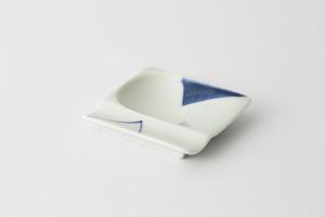 45 重宝皿 対角濃 青1-item