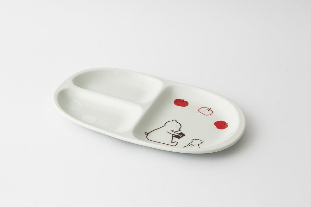 88 H KUMA ミディプレート ホワイト1-item