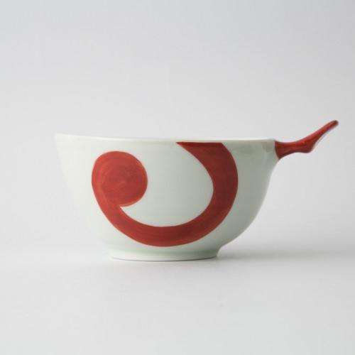 73 e-ボウル 渦紋 赤1-item