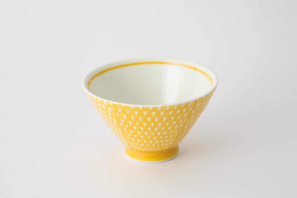 119 鹿の子 茶碗 イエロ2-item