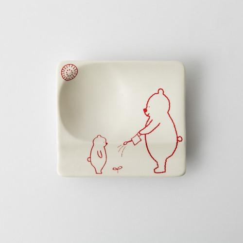 82 H KUMA 重宝皿 レッド2-item