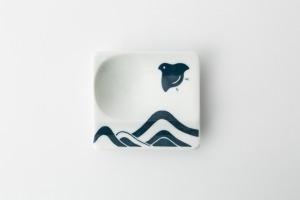 56 重宝皿 波に千鳥 青2-item