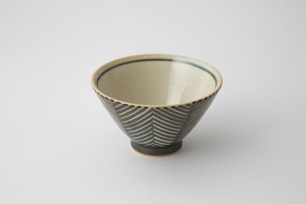 173 Pヘリンボーン 茶碗 ブラウン2-item