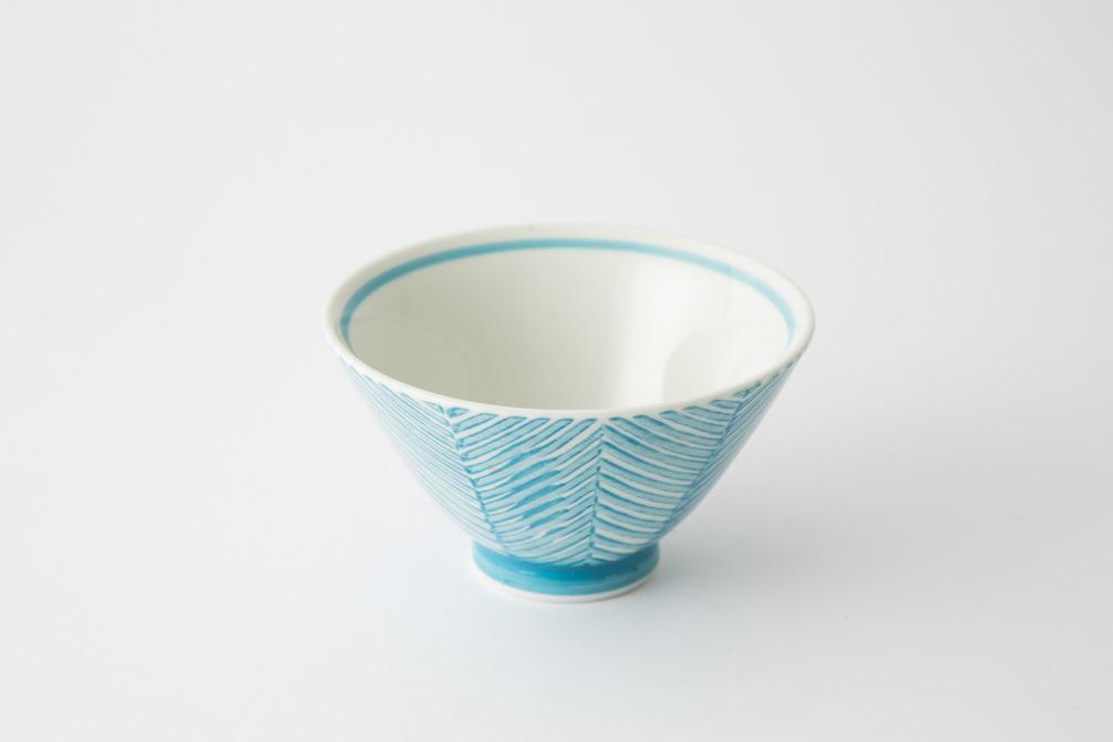 130 ヘリンボーン 茶碗 アクアブルー2-item