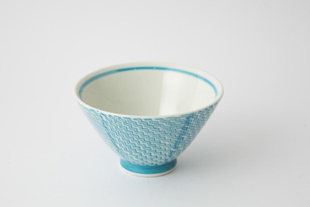 142 シャークスキン 茶碗 アクアブルー2-item