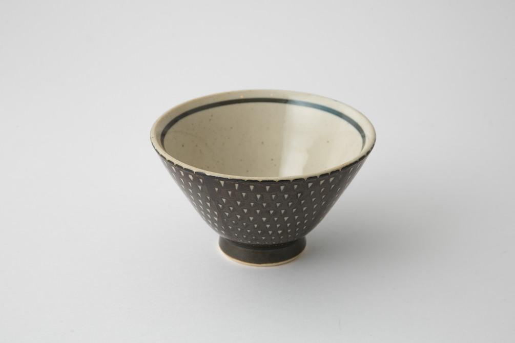 160 P鹿の子 茶碗 ブラウン2-item