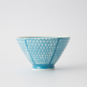 118 鹿の子 茶碗 アクアブルー1-item