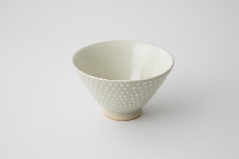 159 P鹿の子 茶碗 ホワイト2-item