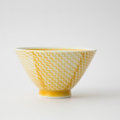 143 シャークスキン 茶碗 イエロー1-item