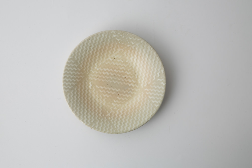 182 Pシャークスキン 四寸丸皿 ホワイト2-item