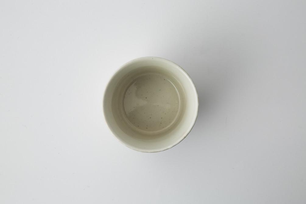 174 Pヘリンボーン そば猪口 ホワイト3-item