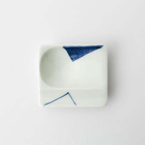 45 重宝皿 対角濃 青2-item