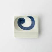 47 重宝皿 渦紋 青2-item