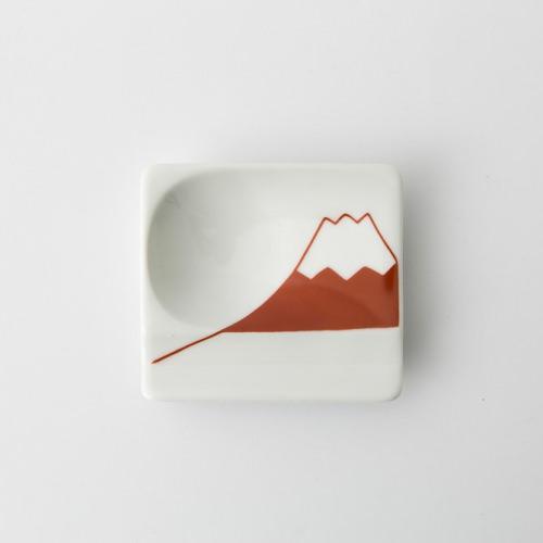 51 重宝皿 富士山 赤2-item