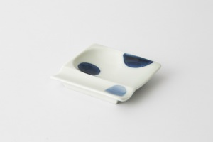 35 重宝皿 二色丸紋 青1-item