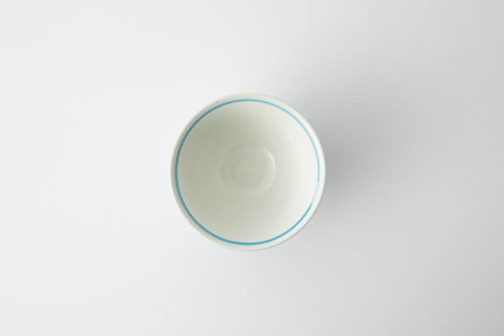 130 ヘリンボーン 茶碗 アクアブルー3-item