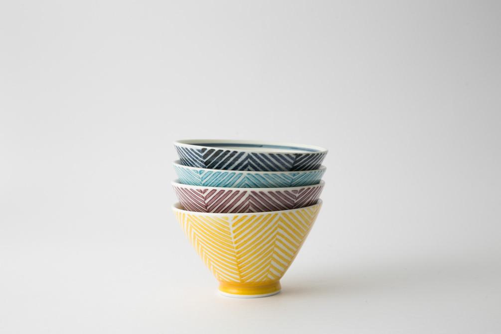 131 ヘリンボーン 茶碗集合1-item