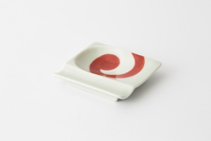 48 重宝皿 渦紋 赤1-item