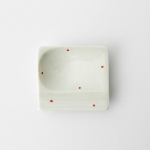 38 重宝皿 水玉 赤2-item