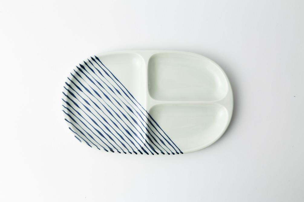 68 大人の仕切り皿  つれづれ十草 青2-item