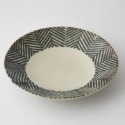 170 Pヘンリボーン 六寸丸皿 ブラウン1-item