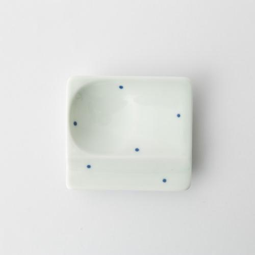37 重宝皿 水玉 青2-item