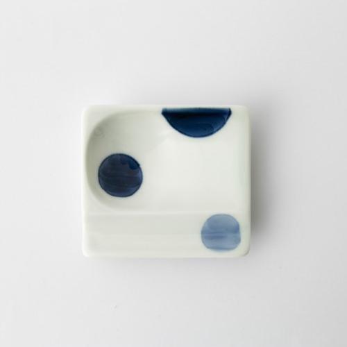 35 重宝皿 二色丸紋 青2-item
