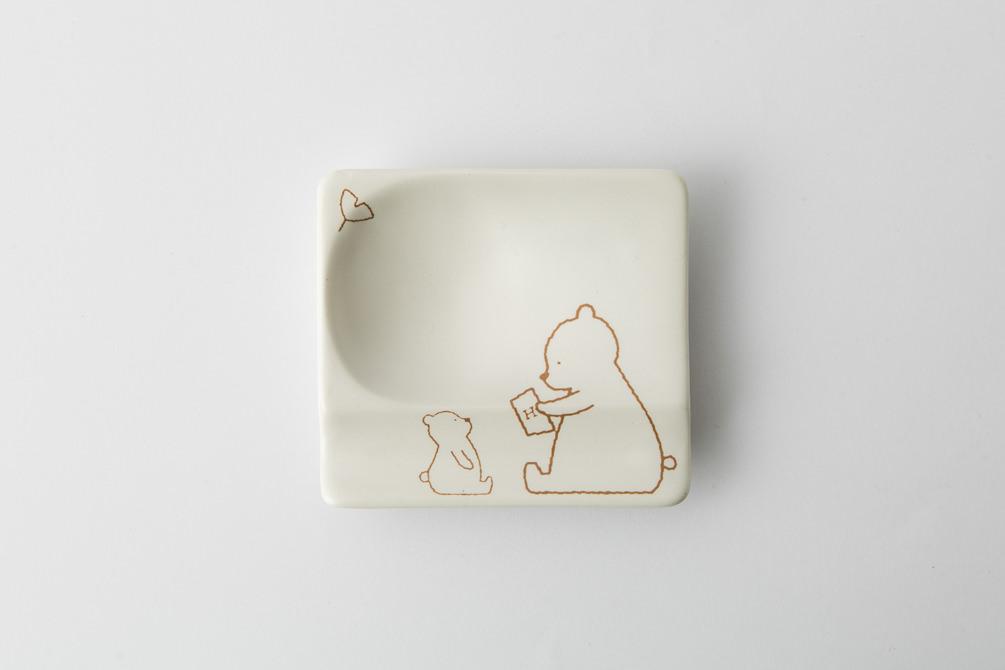 84 H KUMA 重宝皿 ブラウン2-item